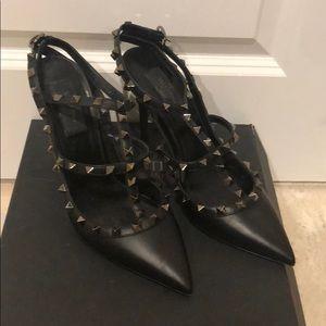 Valentino black studded heels